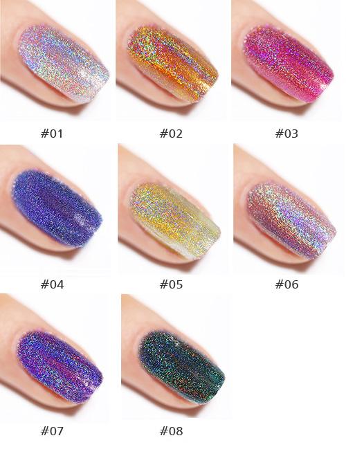 Colorful Environment-friendly Diamond Laser Nail Polish