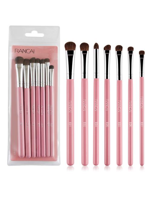 7 Cosmetic Brushes Pony Hair Eyeshadow Brushes Set Full Eye Makeup Set