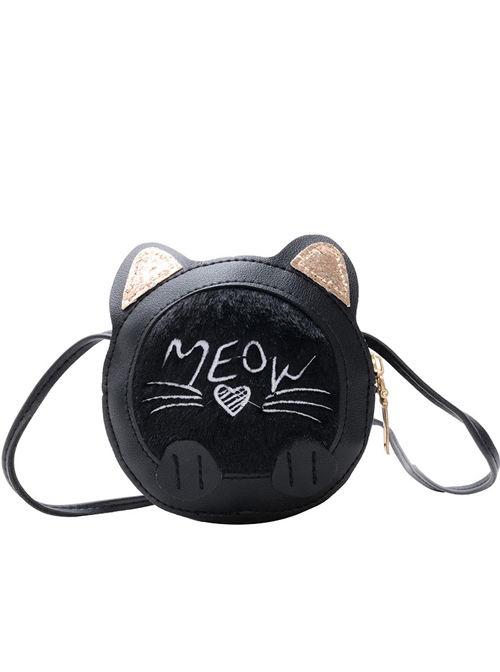 Cute Cartoon Multicolor Kitten Children Shoulder Bag