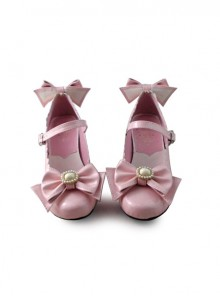Pink Bow Lovely Bride Shoes
