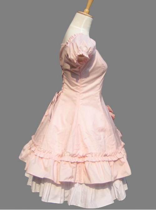 Pink Cotton Princess Hort Sleeve Dress Match The Cake Skirt