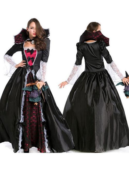 Vampire Halloween Clothing Queen Long Skirts