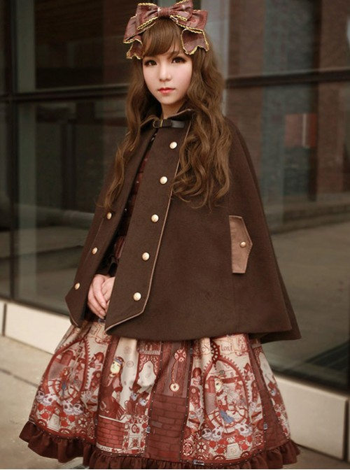 Neverland Lolita,The Traveller In The Wind~ Lolita Cape -4 Colors Available