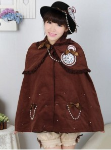 Dream of Lolita Brown Winter Cape