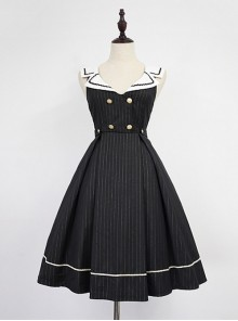 Criss-cross Sailor Collar  College Style Lolita JSK - Morningstar Idol Academy by Souffle Song