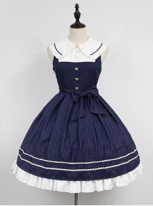 Wide Peter Pan Collar Academy Lolita JSK - Morningstar Idol Academy by Souffle Song