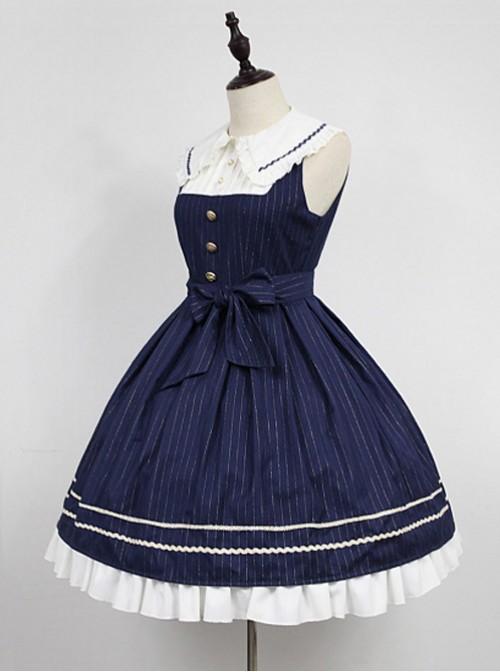 Wide Peter Pan Collar Academy Lolita JSK - Morningstar Idol Academy by Souffle Song