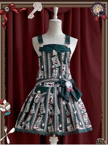 Dark Green Rabbit  Lolita Suspender Dress