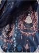 Blue Lace Trimmed Straps Waist Dress