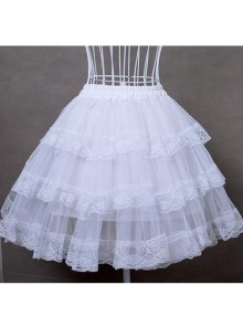 White Cotton Hard Tulle Lolita Dress Petticoat