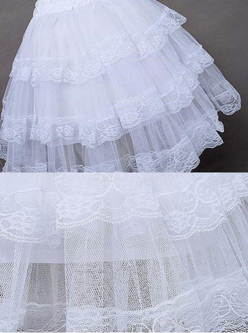 White Cotton Hard Tulle Lolita Dress Petticoat