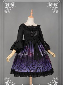 Lace Decorated Square Collar Flouncey  Lolita  Available - Butterfly Cemetery by Souffle Song