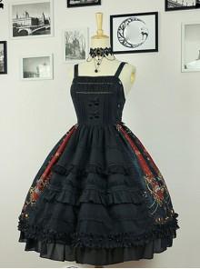 Black  Pleated  With Waist Vest Skirt