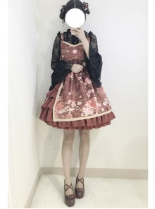 Gules Japanese Wind Soft Sister Bathrobe Cute Lolita Suspender Dress