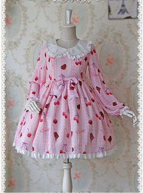 Q-Candy Cherry Long puff sleeves OP - by Infanta