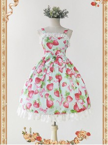 Strawberry Printed JSK by Infanta