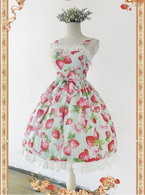 Strawberry Printed JSK by Infanta