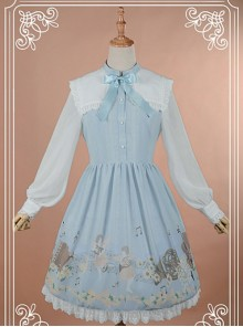 Sweet Square Collar Bow-Knot Decorated OP Dress - Angel Serenade