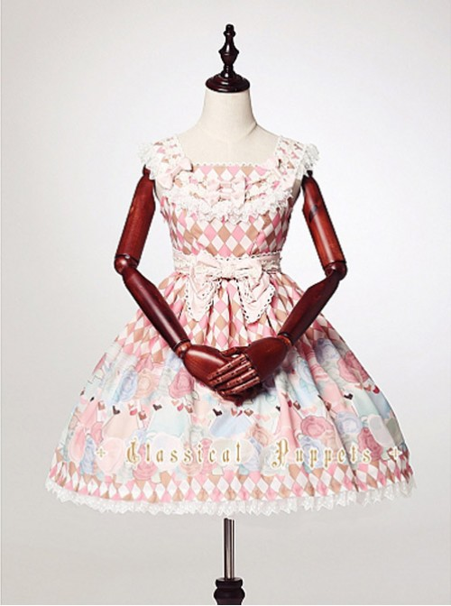 Square Neckline High Waist Lolita Dress