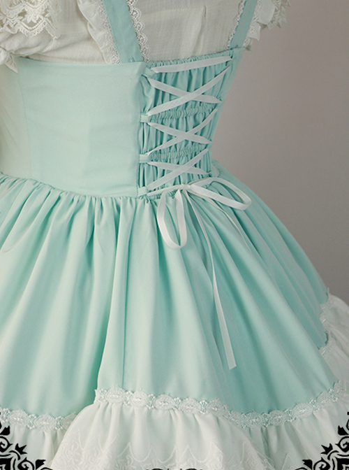 Mid-Waist JSK with Tiered SKirt by Fanzy Fantasy