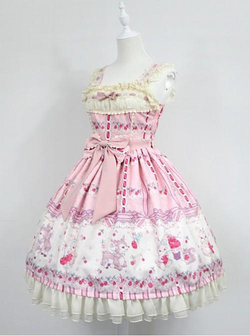 Pink Lace Strapless Vest Crony Deer