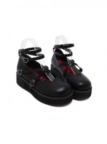 Soft Sister Black Doll Shoes Round-toe Student Cute Cheap Platform Shoes