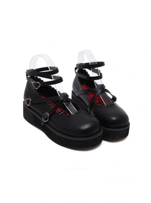 Soft Sister Black Doll Shoes Round-toe