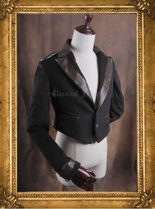 Classical Puppets Elisabeth Embroidery Cashmere Lolita Coat Short Version