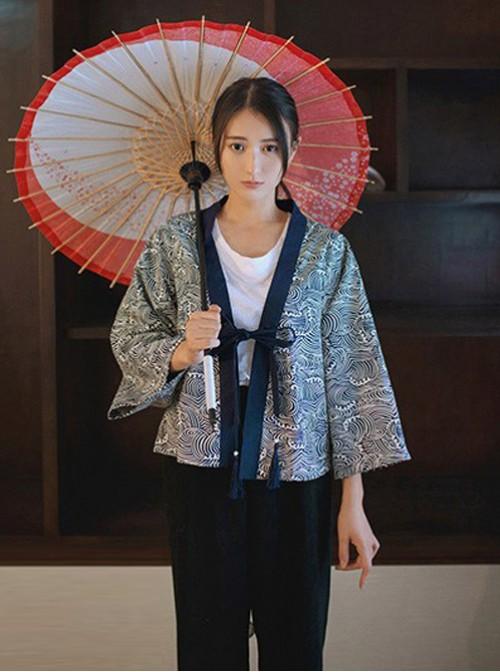 Miss Point, Kanagawa Haori Kimono-like Jacket