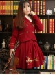 Christmas Story -Vintage Embroidery Lolita Wool Jacket & Short Skirt Set