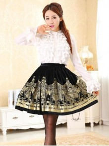 Dream of Lolita,Rotating Amusement Park, Velvet Lolita Skirt