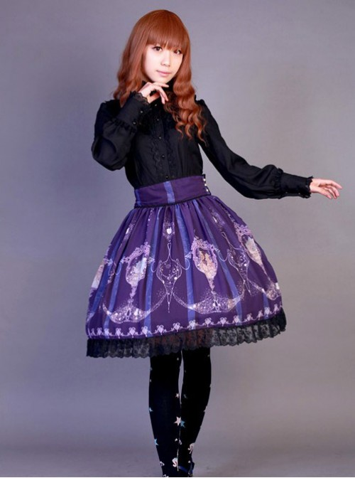 Neverland Lolita,La Pucelle and Pigeon,High Waist Lolita Skirt