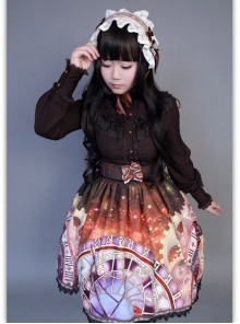 Neverland Lolita Prague Astronomical Clock Series Normal Waist Lolita Skirt