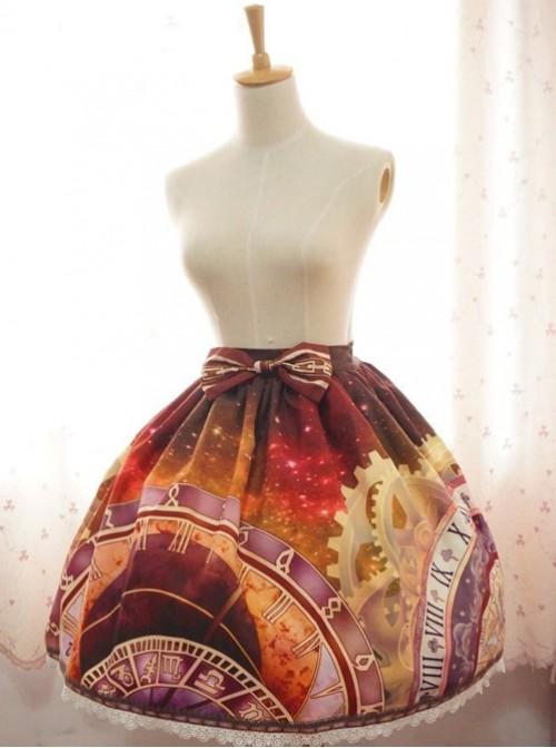 Neverland Lolita Prague Astronomical Clock Series Normal Waist Lolita Skirt
