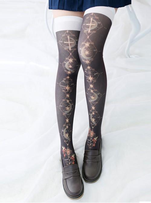 The Dark Star Overknee Mori Female Department  Socks