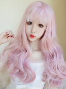 Pink Gradient Lolita Lovely Long Curly Hair Wig