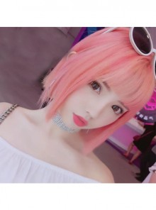 Cyber Reds Light Pink Bobo Hair Cosplay