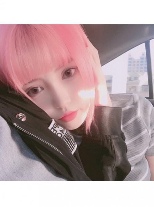 Cyber Reds Light Pink Bobo Hair Cosplay