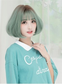 Korean Fashion Air Bangs Natural Fluffy Sweet Cute Wig