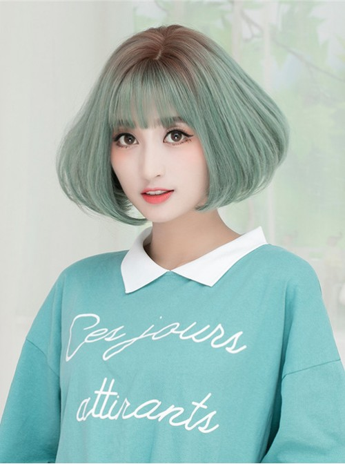 Korean Fashion Air Bangs Natural Fluffy Sweet Cute Wig