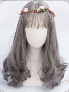 Granny Grey Long Hair Air Bangs Day-to-day Lolita