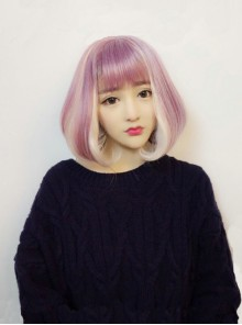 Harajuku Pink-Purple Wig Lolita Pear Roll
