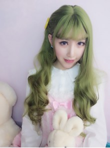 Harajuku Lolita Dark Green Wig Female Long Curls Lovely Nature