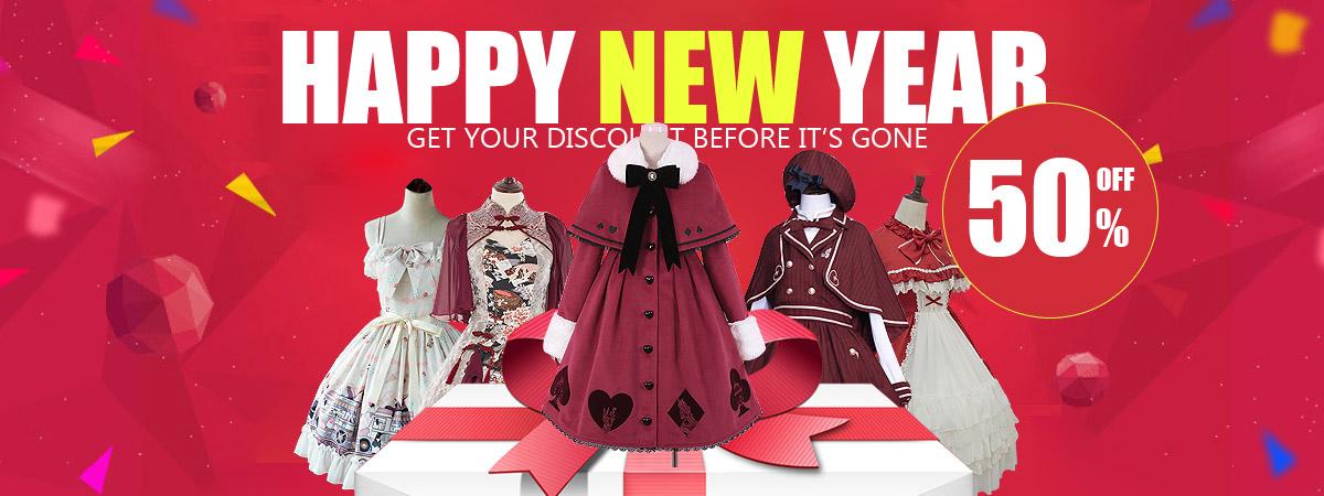 Happy New Year - Enjoy 50% OFF